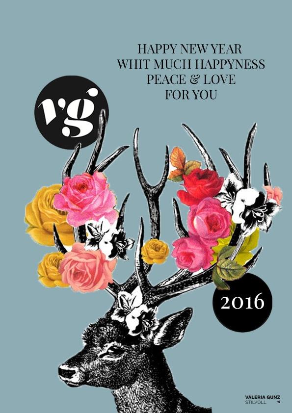Neujahrskarte 2016 - definitiv - für STilvoll Blog