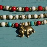 1-Perlenarmbaender-tuerkis-rot-weiss-und-gold-glanz-mit-Elefaentchen-weiss-und-gold-glanz-rot-weiss-und-gold-glanz-farbig-fuer-den-Sommer