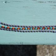 10-Perlenarmbaender-orange-und-tuerkis-und-gold-glanz-viola-transparent-und-gold-glanz-farbig-fuer-den-Sommer8