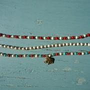 12-Perlenarmbaender-tuerkis-rot-weiss-und-gold-glanz-mit-Elefaentchen-weiss-und-gold-glanz-rot-weiss-und-gold-glanz-farbig-fuer-den-Sommer