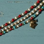 13-Perlenarmbaender-tuerkis-rot-weiss-und-gold-glanz-mit-Elefaentchen-weiss-und-gold-glanz-rot-weiss-und-gold-glanz-farbig-fuer-den-Sommer