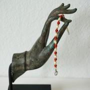 16-Perlenarmbaender-tuerkis-rot-weiss-und-gold-glanz-mit-Elefaentchen-weiss-und-gold-glanz-rot-weiss-und-gold-glanz-farbig-fuer-den-Sommer