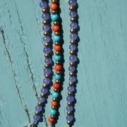 6-Perlenarmbaender-orange-und-tuerkis-und-gold-glanz-viola-transparent-und-gold-glanz-farbig-fuer-den-Sommer