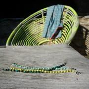 7-Farbige-Sommer-Perlenarmbaender-SeedBeads-tuerkis-und-gold-glanz-acqua-dunkelund-gold-glanz-limonengelb-und-gold-glanz-farbig-fuer-den-Sommer