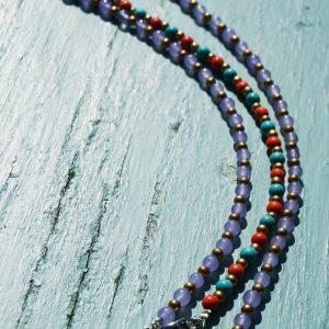 8-Perlenarmbaender-orange-und-tuerkis-und-gold-glanz-viola-transparent-und-gold-glanz-farbig-fuer-den-Sommer