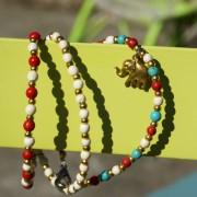 8-Perlenarmbaender-tuerkis-rot-weiss-und-gold-glanz-mit-Elefaentchen-weiss-und-gold-glanz-rot-weiss-und-gold-glanz-farbig-fuer-den-Sommer