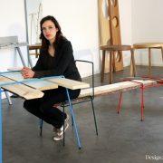 Leiter-Garderobe aus massiv Eichenholz in Deutschland von der Firma Raumgestalt hergestellt
