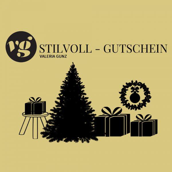 Geschenk Gutschein für Weihnachten